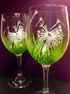 Set of 2  Dandelion Wishes in the Grass by MelissaWynneDesigns, $28.00