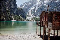 Lago di Braies Dolomites Wedding Photographer