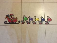 Mario Santa yoshi reindeer Christmas perler Mario Santa yoshi… – Famous Last Words Quilting Beads Patterns Hama Beads Mario, Diy Perler Beads, Perler Bead Art, Pearler Beads, Yoshi, Perler Bead Designs, Hama Beads Patterns, Beading Patterns, Peyote Patterns