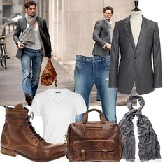 Doug would never do the scarf but jeans boots and white T shirt a must...and he is so much hotter than this guy!!