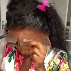How to install a lace wig ? Easy done ! You can do yourself - Thriving Hair Pre-Plucked Summer Water Curly Virgin Human Hair Full Lace Wigs With Soft Baby Hairs [ - Box Braids Hairstyles, Curly Hair Styles, Natural Hair Styles, Human Hair Lace Wigs, Hair Videos, Lace Front Wigs, Hair Trends, Baby Hairs, Hair Beauty