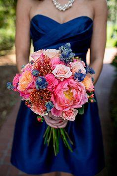 Multicolored wedding bouquet