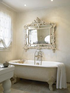 Galbotwins support ovale de rideaux de douche pour - Salle de bain style shabby ...