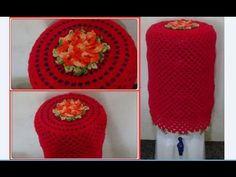Capa de galão de água em crochê simples