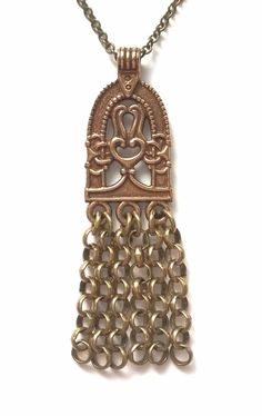 Kalevala Koru Vintage Necklace Antiquities, Finland, Vikings, Bronze, Pendant Necklace, Metal, Vintage, Beautiful, Jewelry