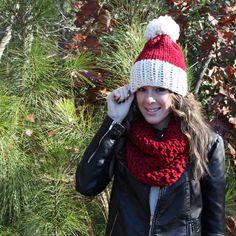 Santa Christmas Hat Scarf Set Bundle $64.00
