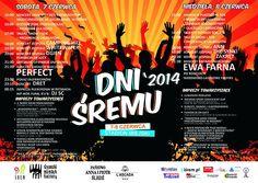 Dni Śremu 2014 - program, data, gwiazdy: Perfect, Ewa Farna, Ann, Zakręt, Camping Hill, Dret