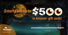I entered @PestDefense #HomeTeamHalloween #contest for a chance to win a $500 in Amazon® gift card! Rules & entry: