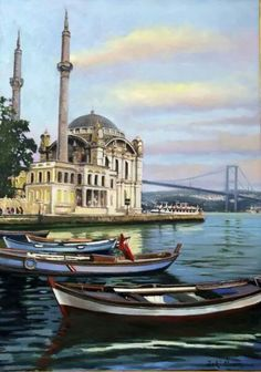 İstanbul resimleri Oil Painting Pictures, Pictures To Paint, Art Pictures, Beautiful Castles, Beautiful Sites, Seaside Beach, Tropical Design, Turkey Travel, Istanbul Turkey