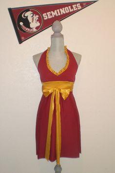 Garnet & Gold Game day Dress  Little Miss TD by TrueColorsCouture, $80.00