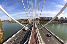 El puente del Alamillo, Sevilla by Patryk Muntowski, via Behance