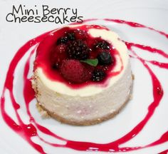 No Bake mini Berry Cheesecakes