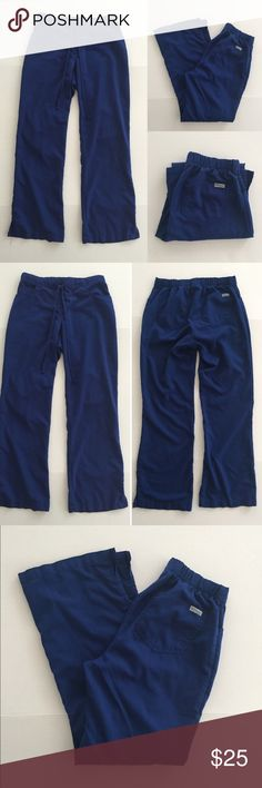 """[Grey's Anatomy] women's blue scrub pants XST [Grey's Anatomy] women's blue scrub pants XST •🆕listing •good pre-owned condition •dark blue color •3 front, 2 back •drawstring, back elastic waistband •material 77% polyester 23% rayon •length/inseam 32"""" •offers and bundles welcomed using the features••• Grey's Anatomy  Pants"""