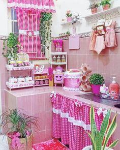 Kitchen Room Design, Diy Kitchen Decor, Cute Kitchen, Home Room Design, Glamour Decor, Vintage Kitchen Curtains, Shabby Chic Kitchen, India Home Decor, Winter Home Decor