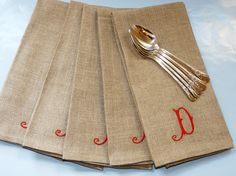 Handmade Monogrammed Linen