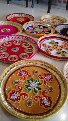Puja thali- Vrishti Creations ph 9669207565 , 9826116090 Diy Diwali Decorations, Festival Decorations, Flower Decorations, Arti Thali Decoration, Kalash Decoration, Wedding Crafts, Wedding Stuff, Wedding Doll, Decor Wedding