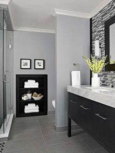 What Color Paint For Black And White Bathroom