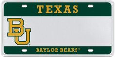 Baylor University license plate // #SicEm