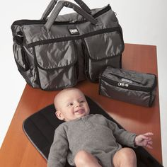The 7am Voyage Diaper Bag, made to be lightweight and soft, keeps contents organized and accessible for all family outings. Whether your travels take you to the streets or in the air, the Voyage Diaper Bag can be an elegant or casual accessory for one day outings or weekend trips!