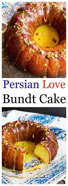 You will fall in love with this Persian Love Bundt Cake. Not only because it's filled with aromatic rosewater and cardamom, but also because it's full of love!