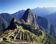 Machu Picchu. Oh man..I would love to go there, it's filled with such rich history.