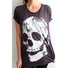 Diamond Skull Goth Punk Pop Art Rock T Shirt M 64130