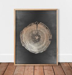 Wall art wood Gold tree ring Gold decor Tree stump print | Etsy