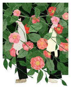 Camellia Japonica by Xuan Loc Xuan - Toi Gallery Art Prints, Illustration, Drawings, Drawing Illustrations, Painting, Flower Drawing, Art, Flower Illustration, Illustration Artists