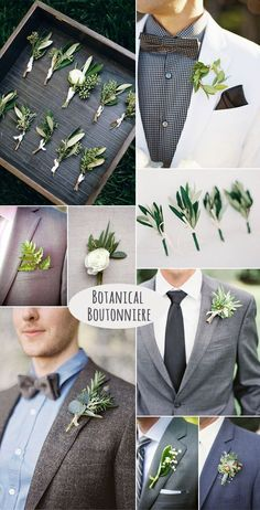 DIY stylish botanical groom boutonniere