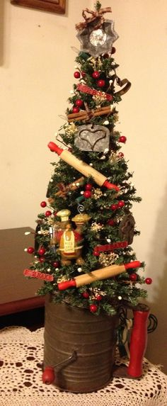 Small Kitchen Tree in a flour sifter