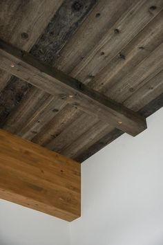 The ceiling is clad in cedar finished with steel wool vinegar and black tea to give it that weathered look. Browse ceiling pictures on DIYNetwork.com.