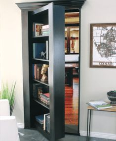 Easily hide an entire room or closet with our pre-assembled hidden mirror door. Use the same solution celebrities & CEOs use. Locking security included.