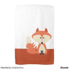 Cute Fox Hand Towels Nov 30 2016 @zazzle #junkydotcom #zazzle #november #2016  2x