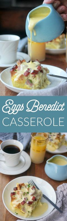 Overnight eggs benedict casserole is my solution to wanting to serve eggs benedict at brunch but not wanting to be standing over the stove poaching eggs. No poaching required here! Eggs Benedict Casserole, Egg Benedict, Breakfast Casserole Sausage, Sausage Bread, Brunch Casserole, Breakfast Dishes, Breakfast Time, Breakfast Recipes, Breakfast Ideas