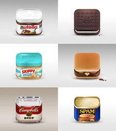 Food Icons by Julian Burford