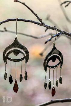 Aros ojos de alpaca y cobre envejecido... ☆ Jewels by Iva Dalmaso - Mendoza, Argentina - Facebook: Iva Dalmaso ☆