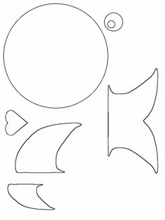 Stingray pattern. Use the printable outline for crafts