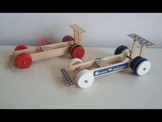 How to make a Rubber Band Dragster Car at Home from Popsicle sticks Simple DIY toy Diy Toys Car, Diy Car, Dragster Car, Diy For Kids, Crafts For Kids, Rubber Band Car, Easy Diy, Simple Diy, Science Projects For Kids