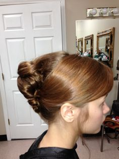 Prom hair- twist updo