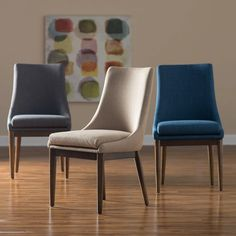 Belham Living Carter Mid Century Modern Upholstered Dining Chair   Set Of 2    Dining Chairs