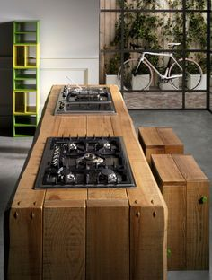 Wooden #kitchen by L'Ottocento #wood #interiors