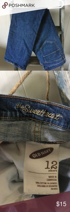 Old Navy Sweetheart Blue Jeans Old Navy Sweetheart Blue Jeans Size 12 Short. Boot Cut Style Old Navy Jeans Boot Cut