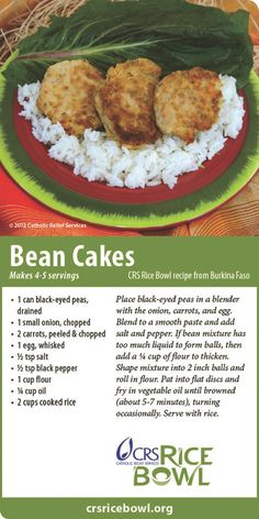 Bean Cakes from West Africa - CRS Ricebowl