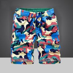 New Summer Camouflage Outdoor Men's Shorts  Brand IN-YESON Quick Dry Surfing Shorts Men Camo Beach Board Shorts de bain homme