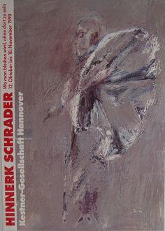 Hinnerk Schrader - Original Artist Poster 1990 by ARTANDVINTSTORE on Etsy Museum Poster, Creative Poster Design, Poster Design Inspiration, Exhibition Poster, Vintage Posters, Fine Art Prints, Poster Prints, The Originals, Artist