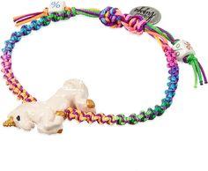 VENESSA ARIZAGA Rainbow unicorn ceramic bracelet