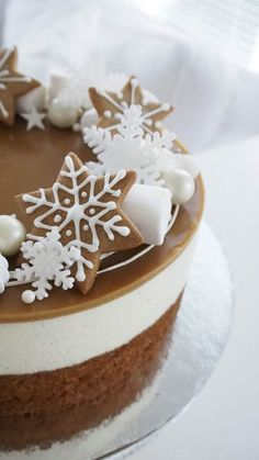 Christmas Desserts, Christmas Treats, Christmas Baking, Sweet Desserts, Sweet Recipes, Delicious Desserts, Piece Of Cakes, Cheesecake Recipes, Yummy Cakes