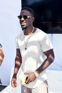 Actor Lance Gross attends day one of the Pool Groove, sponsored by McDonald's, during the 2017 BET Experience at Gilbert Lindsey Plaza on June 2017 in Los Angeles, California. Fine Black Men, Gorgeous Black Men, Beautiful Men, Black Man, Beautiful People, Black Men Summer Fashion, Men Fashion, Eye Candy Men, Lance Gross