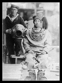 Enoch Eltham, Deep Sea Diver on HMS Flora                        (circa 1900 -1914) by Simon Downham, via Flickr