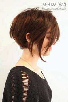 Asymmetrical Short Bob Haircut for Women